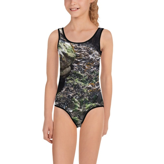 Large Rock Pool All-Over Print Kids Swimsuit