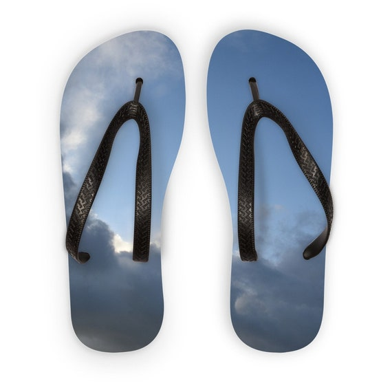 Stormy clouds Kids Flip Flops