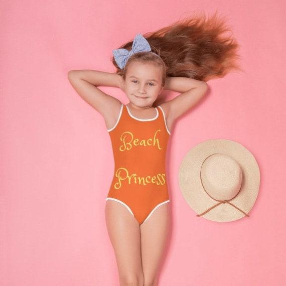 Beach Princess All-Over Print Kids Swimsuit