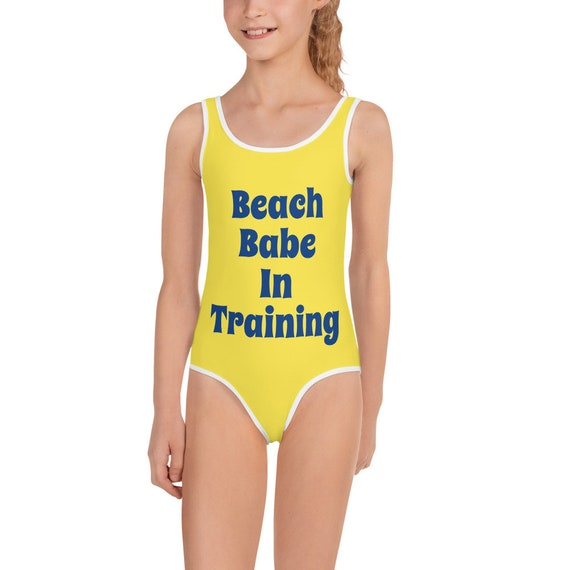 Beach Babe in Training All-Over Print Kids Swimsuit