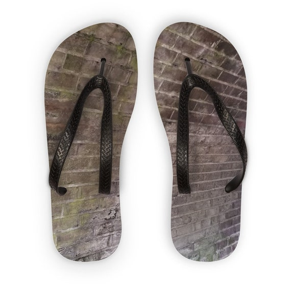 Brick Wall Kids Flip Flops