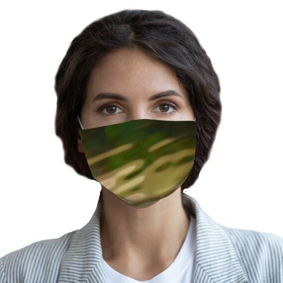 Green Camo Design Sublimation Face Mask