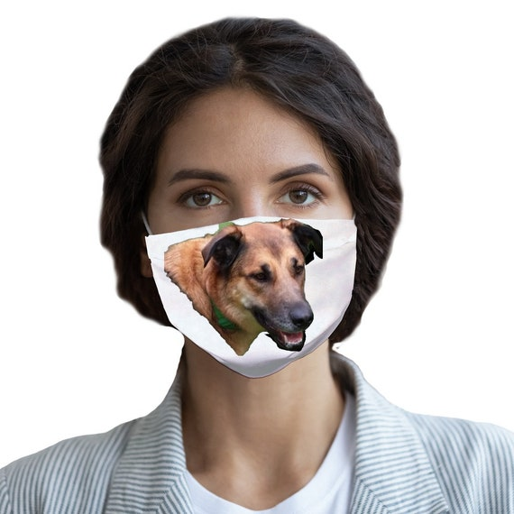 Belgian Malinois Dog Head Sublimation Face Mask - CUSTOMISE YOUR IMAGE