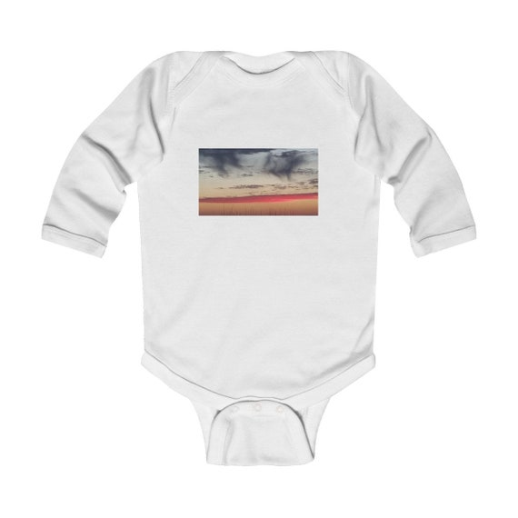 Red Sky at Night Design Infant Long Sleeve Bodysuit
