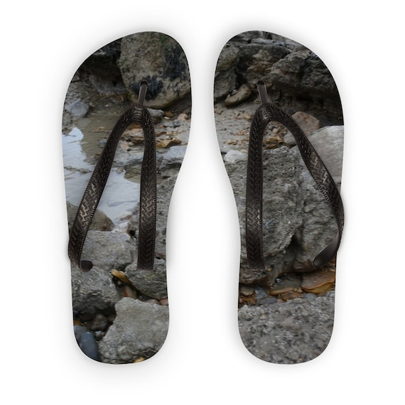 Rocks and Rock Pools Kids Flip Flops