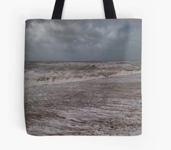 Tote Bag Gentle Waves design double sided lined