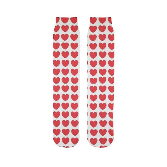 Hearts Sublimation Tube Sock