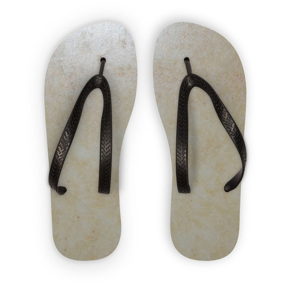 Yellow Marble Design Kids Flip Flops