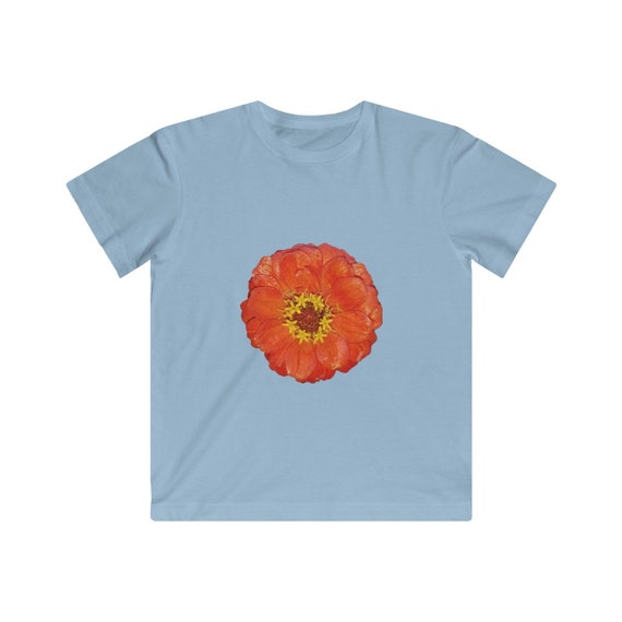 Orange Zinnia FlowerKids Fine Jersey Tee
