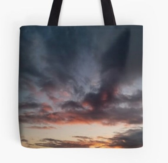 Tote Bag Storm Sky over Coast design double sided lined