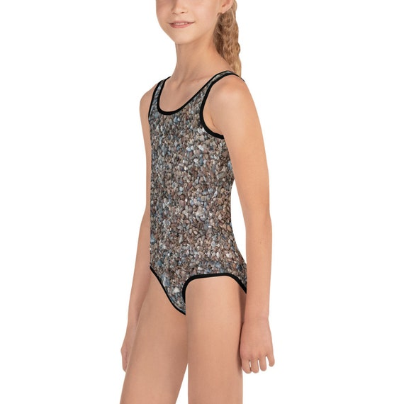 Beach Pebbles All-Over Print Kids Swimsuit