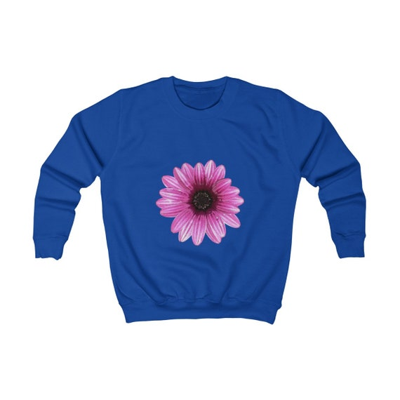 Abstract Pink Dahlia Design Kids Sweatshirt
