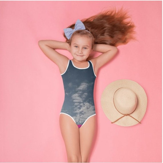 Clouds in the sky All-Over Print Kids Swimsuit