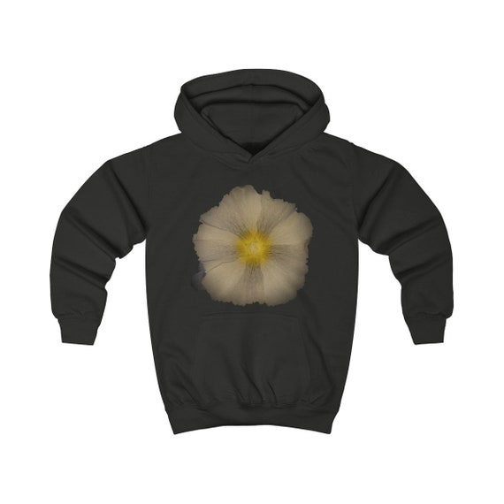 Abstract Hollyhock Flower Kids Hoodie