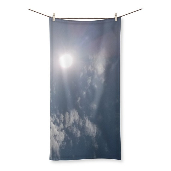Blue Sky and Clouds Sublimation All Over Towel