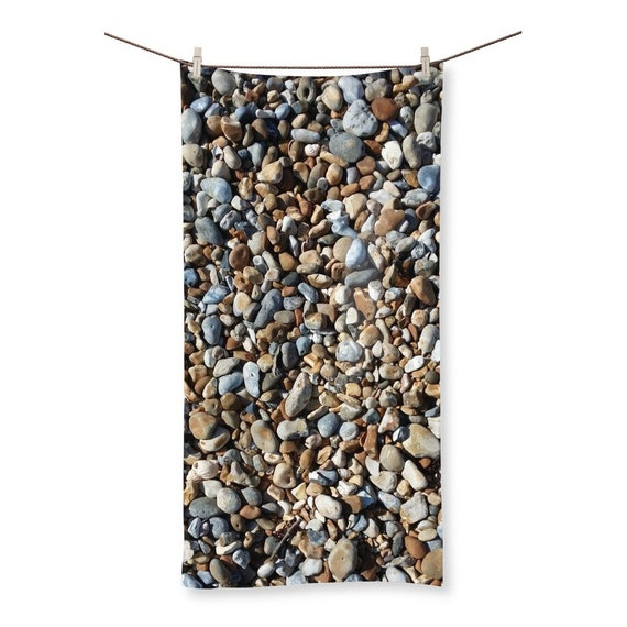 Pebbles on Beach Sublimation All Over Towel