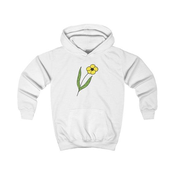 Yellow Flower Kids Hoodie