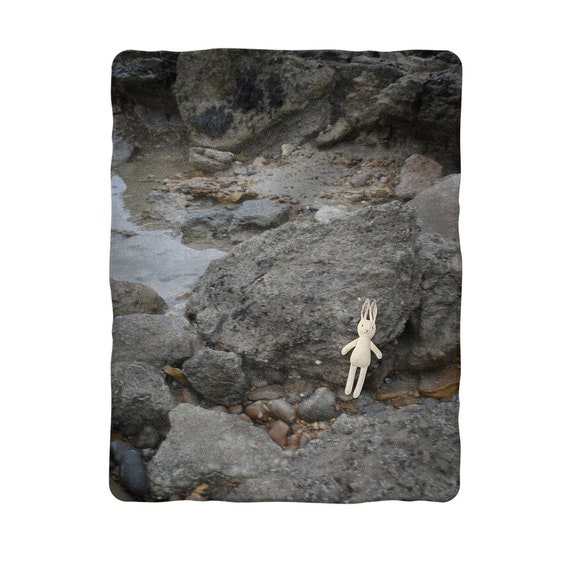 Rocks and Rock Pools Sublimation Baby Blanket