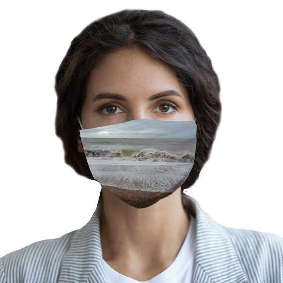Raging Waves Sublimation Face Mask