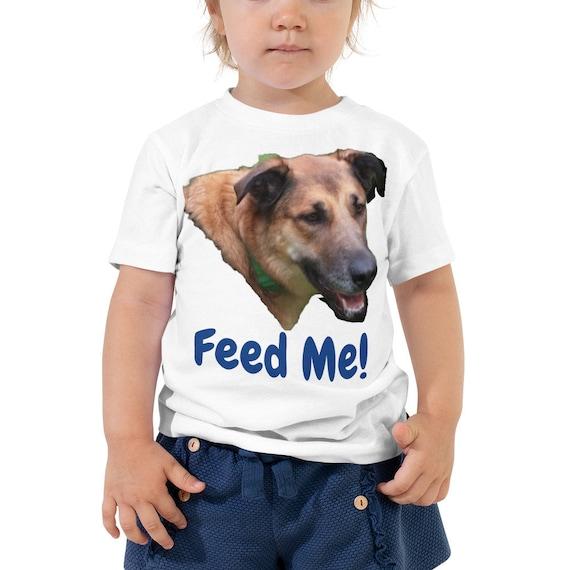 Feed Me Dog Head Toddler Short Sleeve Shirt