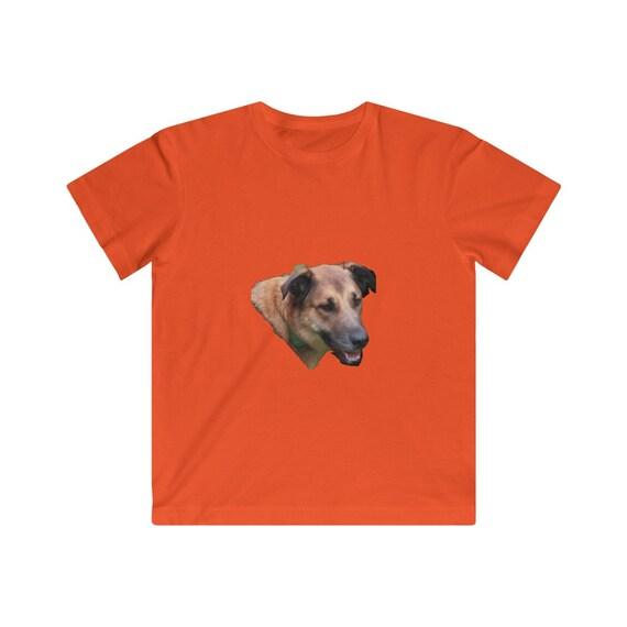 Belgian Malinois Dog Head Kids Fine Jersey Tee