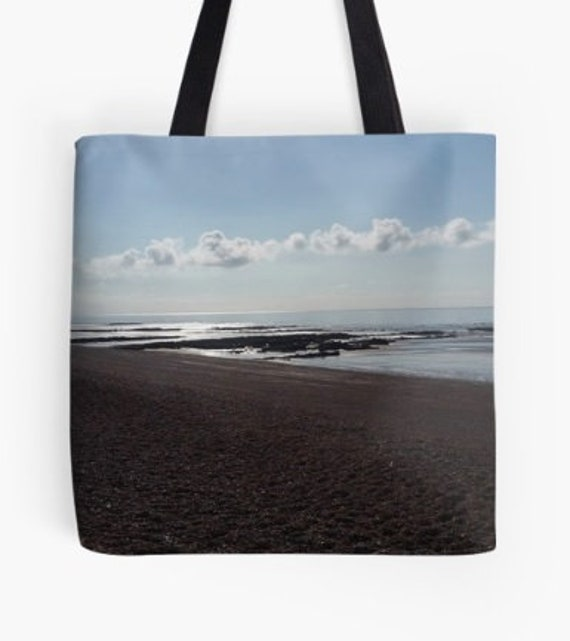 Tote Bag Sunset over the Beach design double sided lined
