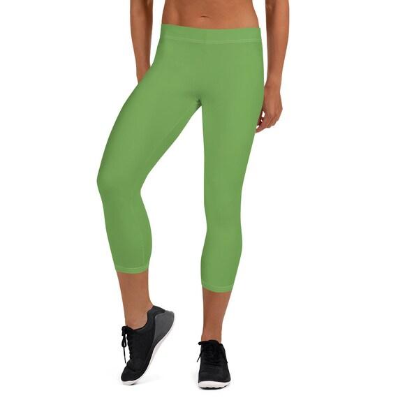 Green Adult Capri Leggings