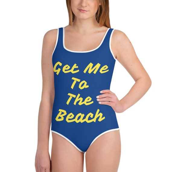 Get Me to The Beach All-Over Print Youth Swimsuit