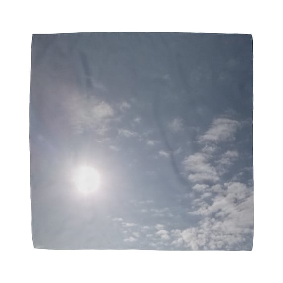 Blue Sky and Clouds Sublimation Bandana