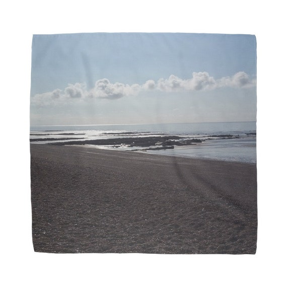 Sunset over the Beach Scene Sublimation Bandana
