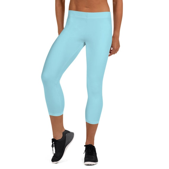 Light Blue Adult Capri Leggings