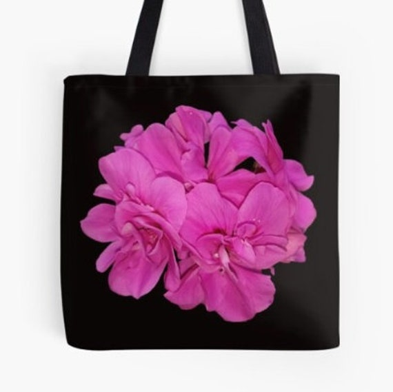Tote Bag Pink Flowers design double sided lined