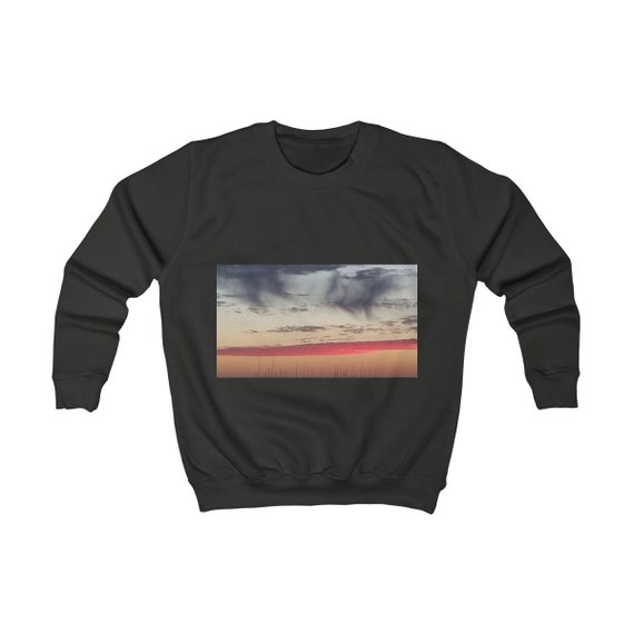 Red Sky at Night Design Kids Sweatshirt