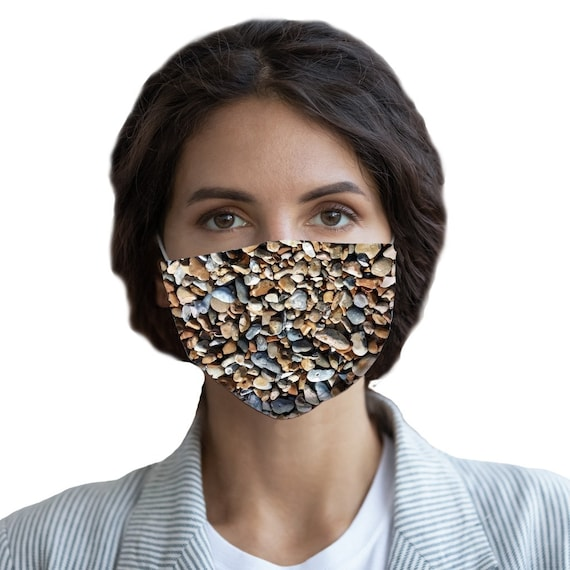 Pebbles on Beach Sublimation Face Mask