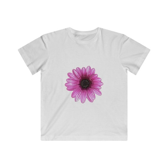 Pink Dahlia Flower Kids Fine Jersey Tee