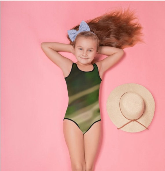 Green Camo All-Over Print Kids Swimsuit