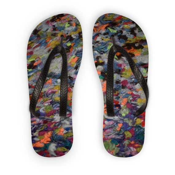 01_Multi-colour wool floor rug Kids Flip Flops