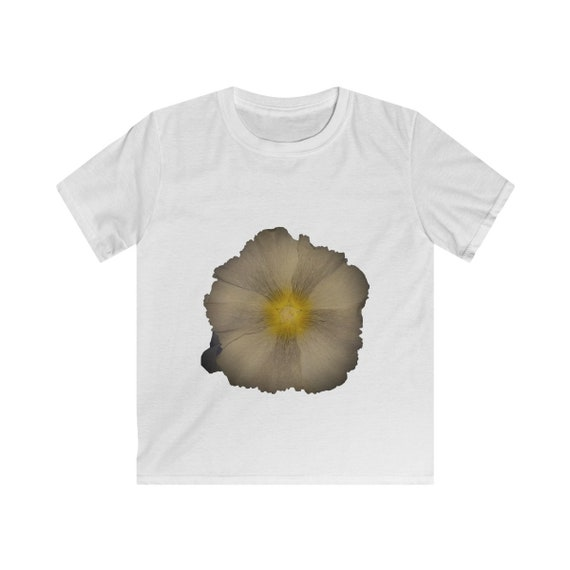 Abstract Hollyhock Flower Kids Softstyle Tee