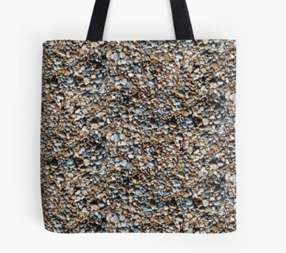 Tote Bag Pebbles on the Beach design double sided lined