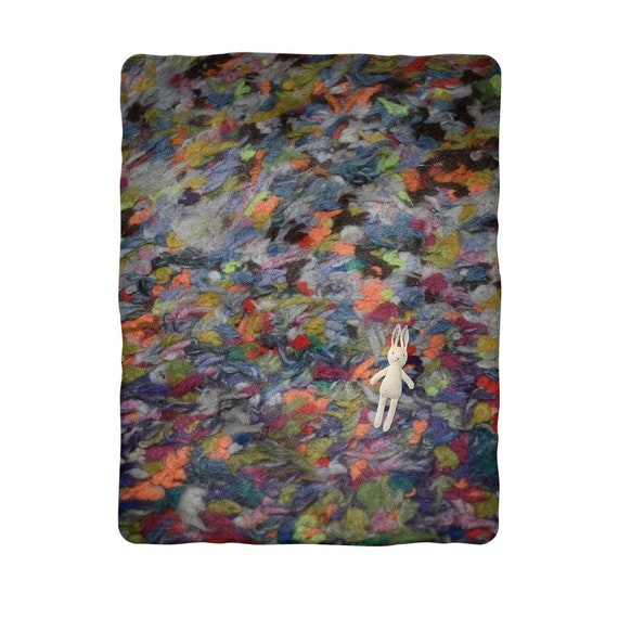 Multi-colour wool floor rug Sublimation Baby Blanket