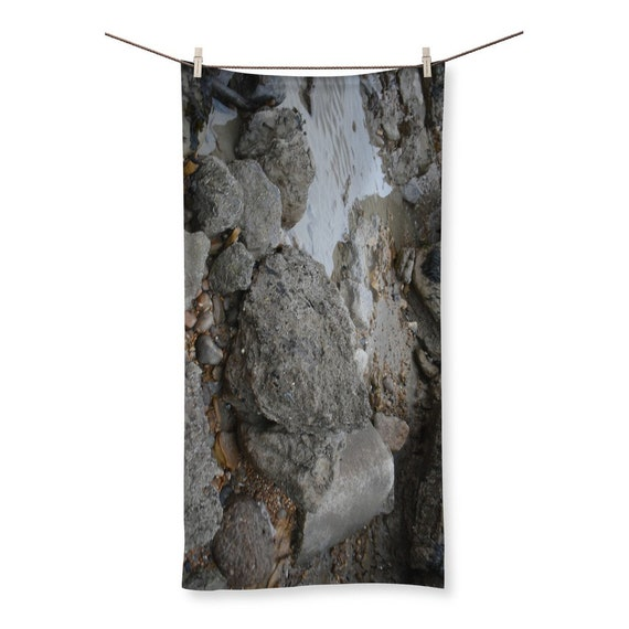 Rocks and Rock Pools Sublimation All Over Towel