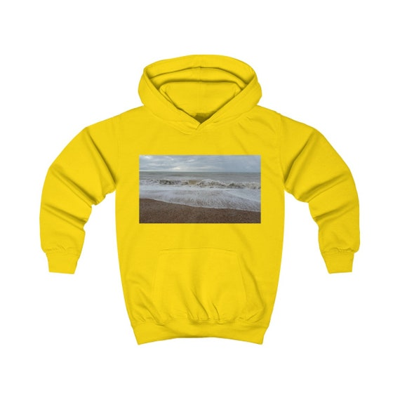 Raging Waves Design Kids Hoodie