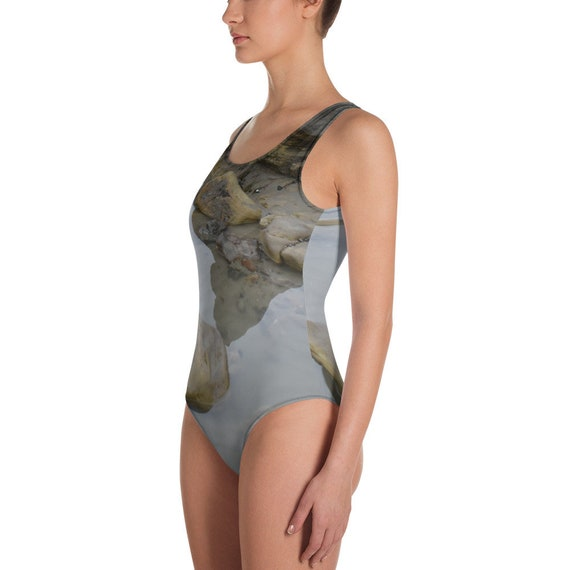 Rock Pools Design Adult One-Piece Swimsuit