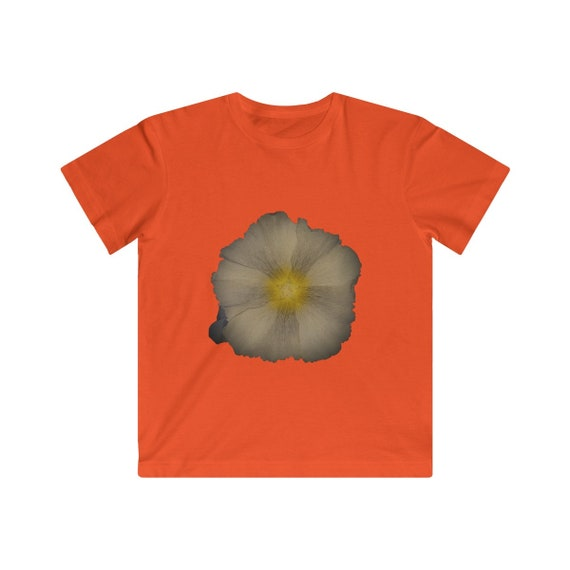 Abstract Hollyhock Flower Kids Fine Jersey Tee