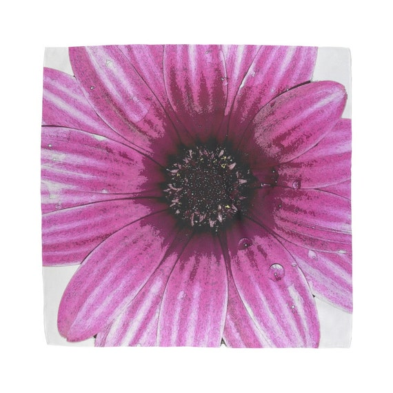 Pink Dahlia Flower Design Sublimation Bandana