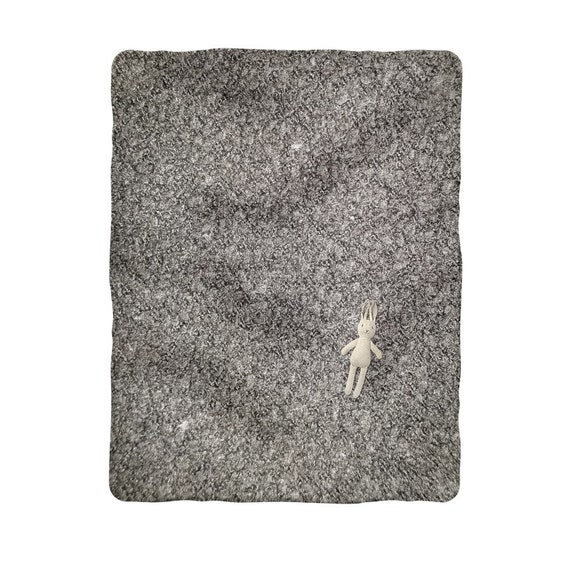 Black Wool Texture Image Sublimation Baby Blanket