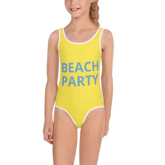 Beach Party Design Kids Swimsuit