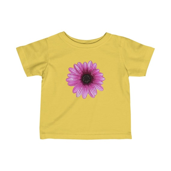 Abstract Pink Dahlia Head Design Infant Fine Jersey Tee