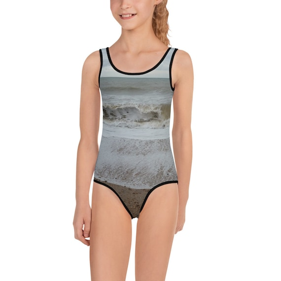 Raging Waves All-Over Print Kids Swimsuit
