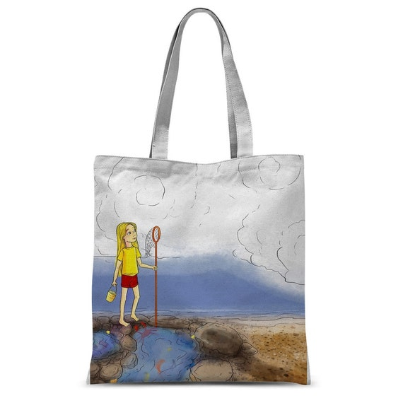 Emma Rose on the Rocks Classic Sublimation Tote Bag